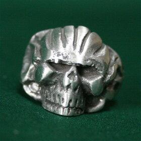 骸骨スカルリング23号サイズハードデザインテイストがかっこいいシルバーリングsilver ring