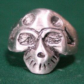 骸骨スカルリング16号、18.5号、23.5号サイズハードデザインテイストがかっこいいシルバーリングsilver ring