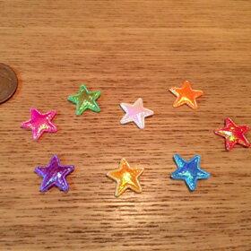 デコパーツ 装飾用品キラキラ・星モチーフのちいさなデコ素材ハンドメイド装飾・お裁縫に♪【1個販売】