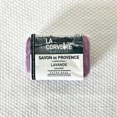 フランス製フレグランスソープラベンダー100gマルセイユ石鹸サボン・ド・プロヴァンスラベンダーの香り天然植物オイル100%石鹸ラ・コルベットLACORVETTEギフトおすすめ人気