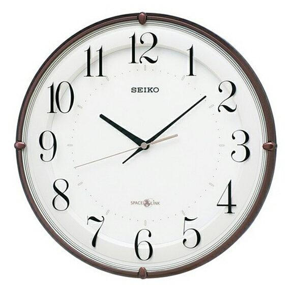 【エントリーで★最大ポイント10倍!】【 送料無料 】SEIKO(セイコー) 掛け時計 衛星電波時計 アナログ スペースリンク GP216B【10P05Nov16】