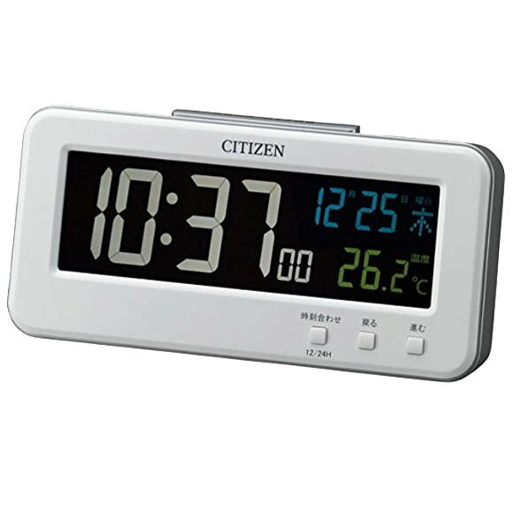 シチズン CITIZEN 目覚まし時計 デジタル 温度表示 シシリアンネオン (8RDA68-003) 特価25%OFF