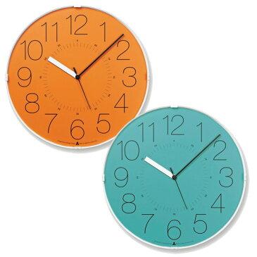 Lemnos レムノス 掛け時計 電波時計 アナログ スイープムーブメント 「カラ」 (AWA13-08)*ブル−1月中旬入荷予定