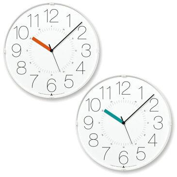 Lemnos レムノス 掛け時計 電波時計 アナログ スイープムーブメント 「カラ」 (AWA13-08WH)