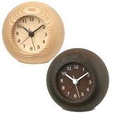 Lemnosレムノス木製アナログ目覚し時計レストステップムーブメント(TL-LA13-12)