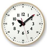 Lemnosレムノス掛け時計アナログステップムーブメント「ふんぷんくろっくL」(YD14-08L)