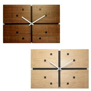 【ポイントアップ中&割引クーポン配布中】掛け時計 長方形 ジョイントクロック シャープ ステップムーブメント 日本製 (FO-V089)