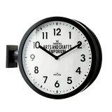 掛け時計ダブルフェイス両面時計スイープムーブメント英国調アナログロベストン(IF-CL2138)