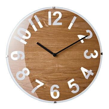 掛け時計 電波時計 木製ステップムーブメント アナログ ルビニー (IF-CL2955)