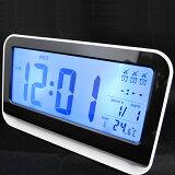 置き時計LCD時計アラーム(複数)デジタルカレンダーライト温度計「シーザ」