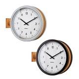 掛け時計スイープダブルフェイスシンプルモダンデザインインテリアマッカーティ(IF-CL3276)