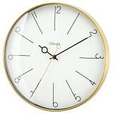 掛け時計マノンメタルシンプルモダンクールおしゃれ木製北欧デザインインテリアリビングプレゼントギフト(IF-CL3882)