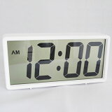 置き時計デジタル大型液晶シンプルLCD時計掛置兼用「ジェィド」(SJ-LCD008)