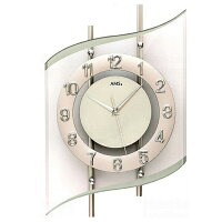 AMS掛け時計アナログシルバードイツ製AMS5506【期間限定30%OFF!】国内在庫即納(YM-AMS5506J)