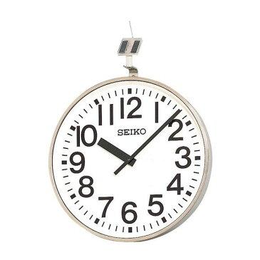 【エントリーで★最大ポイント10倍!】 【 送料無料 】 SEIKO セイコー 壁掛型 電波時計・ソーラー式 屋外用 (QFC-707R) (検) 時計 掛け時計 掛時計 かけ時計 木製