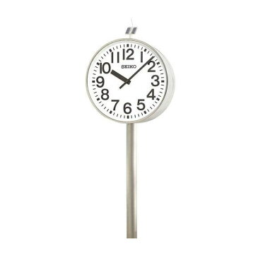 【エントリーで★最大ポイント10倍!】 【 送料無料 】 SEIKO セイコー 両面ポール型 電波時計・ソーラー式 屋外用 (QFC-787) (検) 時計 振り子時計 ふりこ時計 掛け時計 掛時計 振り子 ふりこ 時計 木製 おしゃれ