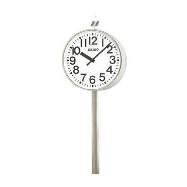 【エントリーで★最大ポイント10倍!】 【 送料無料 】 SEIKO セイコー 両面ポール型 電波時計・ソーラー式 屋外用 (QFC-787R) (検) 時計 振り子時計 ふりこ時計 掛け時計 掛時計 振り子 ふりこ 時計