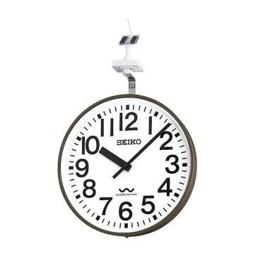 【エントリーで★最大ポイント10倍!】 【 送料無料 】 SEIKO セイコー 壁掛型 電波時計・ソーラー式 屋外用 (QLC-703) (検) 時計 掛け時計 掛時計 かけ時計 木製