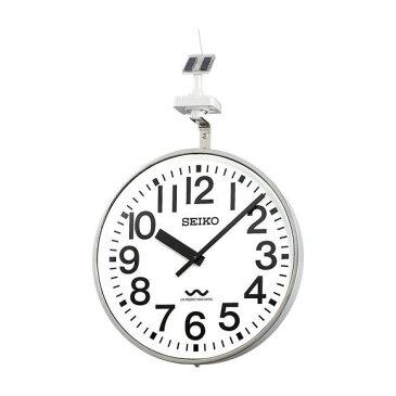 【エントリーで★最大ポイント10倍!】 【 送料無料 】 SEIKO セイコー 壁掛型 電波時計・ソーラー式 屋外用 (QLC-707) (検) 時計 掛け時計 掛時計 かけ時計 木製