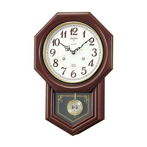 【エントリーで★最大ポイント10倍!】  SEIKO セイコー 振り子時計 報時 電波 時計 (RQ205B)  【smtb-tk】 (検) 時計 掛け時計 掛時計 かけ時計 木製【10P05Nov16】:インテリア雑貨a-mon(エエモン)