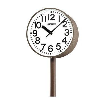 【エントリーで★最大ポイント10倍!】 【 送料無料 】 SEIKO セイコー 両面ポール型 交流電流式 屋外用 (SFC-783E) (検) 時計 掛け時計 掛時計 かけ時計 木製
