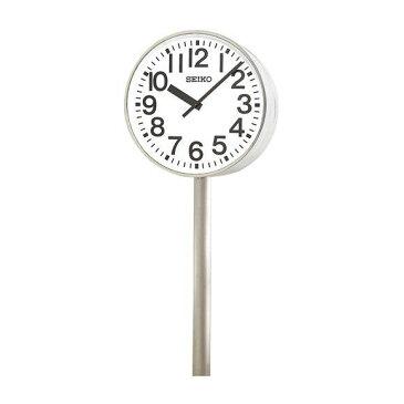 【エントリーで★最大ポイント10倍!】 【 送料無料 】 SEIKO セイコー 両面ポール型 交流電流式 屋外用 (SFC-787) (検) 時計 掛け時計 掛時計 かけ時計 木製