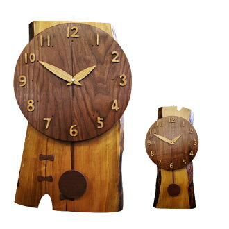 Mountain Watch large wooden pendulum clock (IS-CONVINA) (logging) | Watch | pendulum clock | clock | pendulum clock