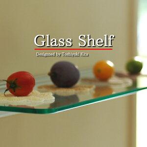 シンプルで美しい飾り棚。飾り棚 ガラス 洋風 ウォールシェルフ 収納 壁Glass Shelf アルミレ...