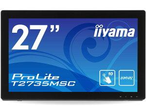 10点マルチタッチ機能対応27型ワイド液晶ディスプレイ 。【送料無料】iiyama T2735MSC-B1 マー...
