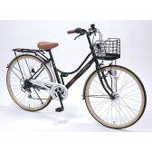【送料無料】 自転車 26インチ ライト LED 軽量 4色 黒 ブラック おしゃれ マイパラス M-504-BK 【同梱配送不可】【代引き不可】【沖縄・離島配送不可】