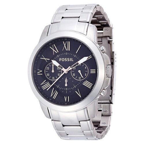 FOSSILFS4994ブラック×シルバーGrant(グラント)[クォーツ腕時計(メンズ)]