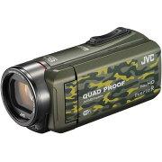 ビデオカメラ ビクター カモフラージュ エブリオ フルハイビジョンメモリービデオカメラ バッテリー アウトドア