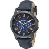 【送料無料】FOSSIL(フォッシル) FS5061 ブラック×ネイビー GRANT(グラント) [クォーツ腕時計 (メンズウオッチ)]