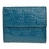 フォリフォリ Folli Follie 三つ折り財布 小銭入れ付 ブルー (レディース) WA0L027SQ/AQU
