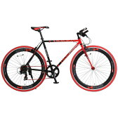 【送料無料】DOPPELGANGER 402S-700C リベロシリーズ サンクタム レッド×ブラック [クロスバイク(700×25C・7段変速)]【同梱配送不可】【代引き不可】【沖縄・北海道・離島配送不可】