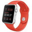 【送料無料】APPLE MLC42J/A Apple Watch Sport 42mm [オレンジスポーツバンド]