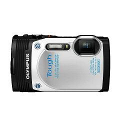 180度回転・可動式モニターで、自分撮りも簡単!【送料無料】OLYMPUS TG-850 WHT ホワイト STYL...
