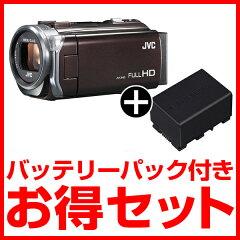 【期間限定!バッテリーパック付き!!】【送料無料】JVC(ビクター) ビデオカメラ GZ-E765-T + ...
