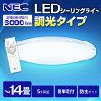【送料無料】シーリング ライト LED 14畳 NEC HLDZE1462 LIFELED'S リモコン付 調光 昼光色 照明 洋室 洋風 リビング ダイニング 居間 タイマー 照明器具 食卓 寝室