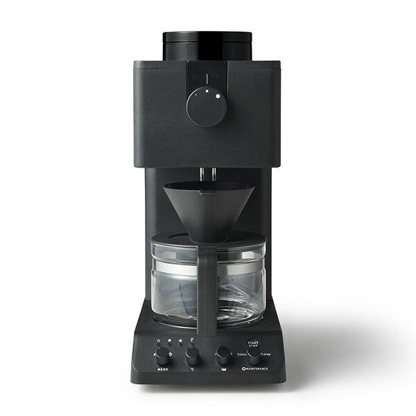 TWINBIRD CM-D457B ブラック [全自動コーヒーメーカー (3杯分)] TWINBIRD ブラック 黒 450 ml コーヒーメーカー 全自動 フラットミル シャワードリップ 抽出温度設定 はずせるミル 保温機能 蒸らし湯量調整