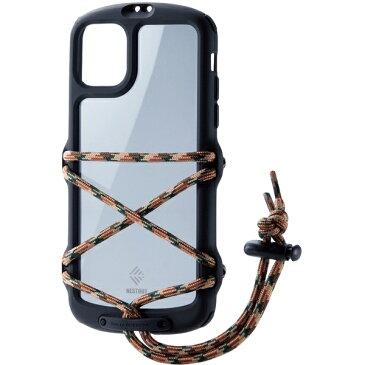 ELECOM PM-A19CNESTFBK ブラック [iPhone 11/NESTOUT/Fes & Camp]【同梱配送不可】【代引き・後払い決済不可】【沖縄・離島配送不可】