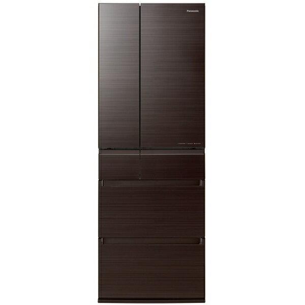 パナソニック PANASONIC 冷蔵庫(500L・フレンチドア・幅65) NR-F506HPX-T アルベロダークブラウン 木目調デザイン おしゃれ 大容量 大型 6ドア 家族 夫婦 はやうま冷却 はやうま冷凍 観音開き 省エネ NR-F506HPX