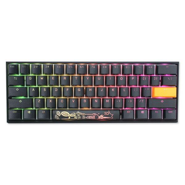 【正規代理店】 Ducky ダッキー Mecha Mini RGB 60% 静音赤軸 USB 有線 ゲーミングキーボード メカニカルキーボード パソコン 英語配列 テンキーレス CHERRY MX 静音赤軸