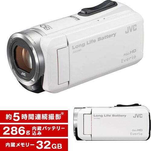 JVCGZ-F100-WホワイトEverio(エブリオ)[ハイビジョンメモリービデオカメラ(32GB)]
