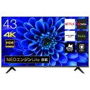 43インチ 4Kテレビ ハイセンス 43型 YouTube