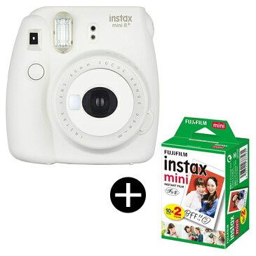 【送料無料】富士フィルム instax mini 8+ チェキ バニラ + フィルムセット [インスタントカメラ]