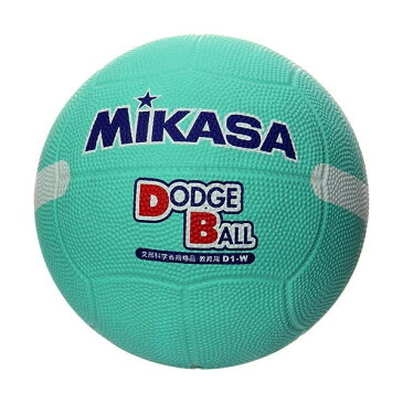 MIKASA D1W G [ドッジ1号(小学生用) 教育用 白線入り ゴム 緑]