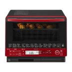 日立 HITACHI 電子レンジ オーブンレンジ ヘルシーシェフ MRO-VS8R 過熱水蒸気 スチーム 豊富な機能 庫内容量31L 外して丸洗いテーブルプレート フラット天面 使いやすい 温度センサー 重量センサー 脱臭 MROVS8R 赤 レッド
