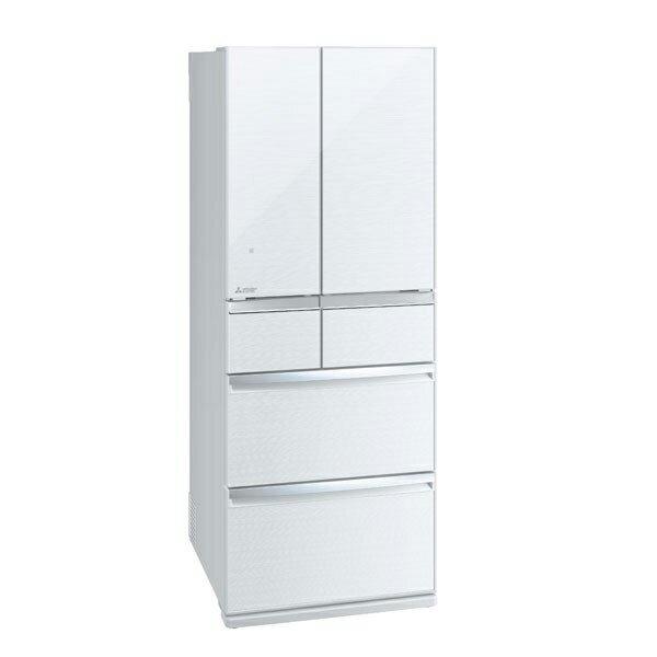 MITSUBISHI MR-WX47LD-W クリスタルホワイト 置けるスマート大容量 WXシリーズ[冷蔵庫 (470L・フレンチドア)] 【代引き・後払い決済不可】【離島配送不可】