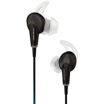 【送料無料】BOSE QuietComfort 20 Acoustic Noise Cancelling headphones スマートフォン対応モデル ブラック [ノイズキャンセリング カナル型イヤホン]